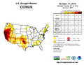 United States drought status October 21 2014.png