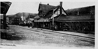 1877 Shamokin uprising - Reading Depot in Shamokin, raided in the Shamokin uprising