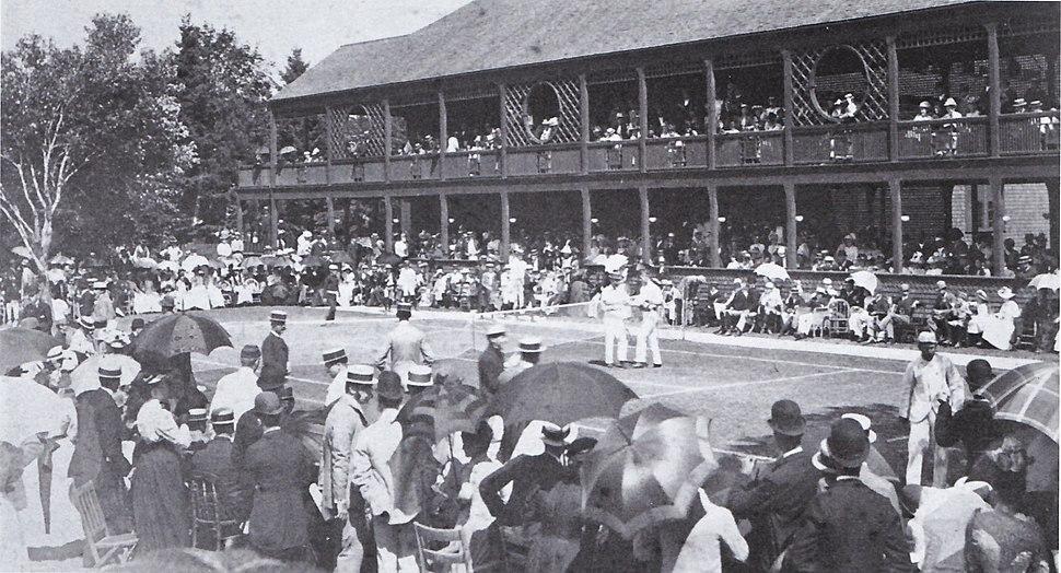 Us championships 1890 semifinal campbell vs huntington