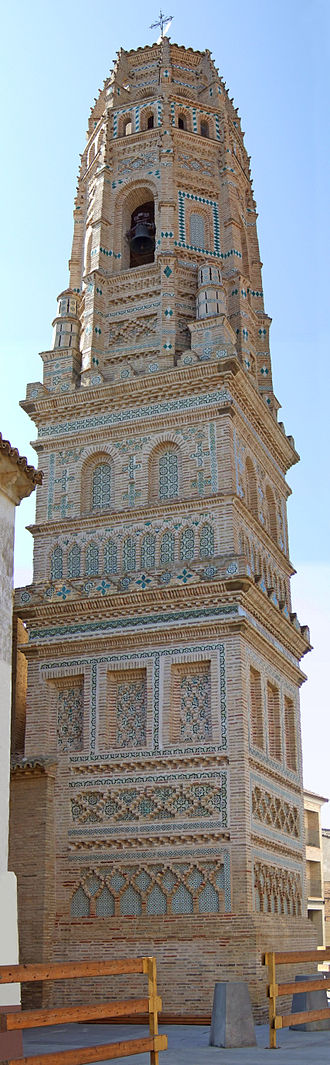 Mudéjar Architecture of Aragon - Tower of the Church of Utebo.