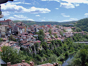 Veliko Tarnovo - Veliko Tarnovo above the Yantra River