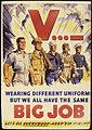 V... - Wearing different uniforms but we all have the same big job. Let's go everybody - Keep `em firing. - NARA - 534899.jpg