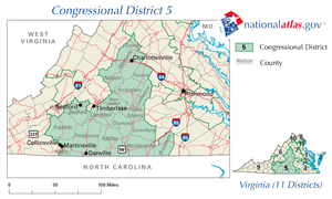 United States House of Representatives elections in Virginia, 2006 - Image: VA 5th Congressional District