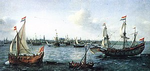 Port of Amsterdam - The Harbour in Amsterdam (1630) by Hendrick Cornelisz Vroom
