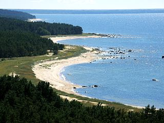 Hiiumaa second largest island in Estonia