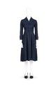 Vadlång klänning av blå-svart mönstrat siden. Tillhört Irma von Geijer - Hallwylska museet - 89263.tif