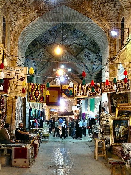 The Vakil Bazaar[41] of Shiraz bustling with shoppers. - Shiraz