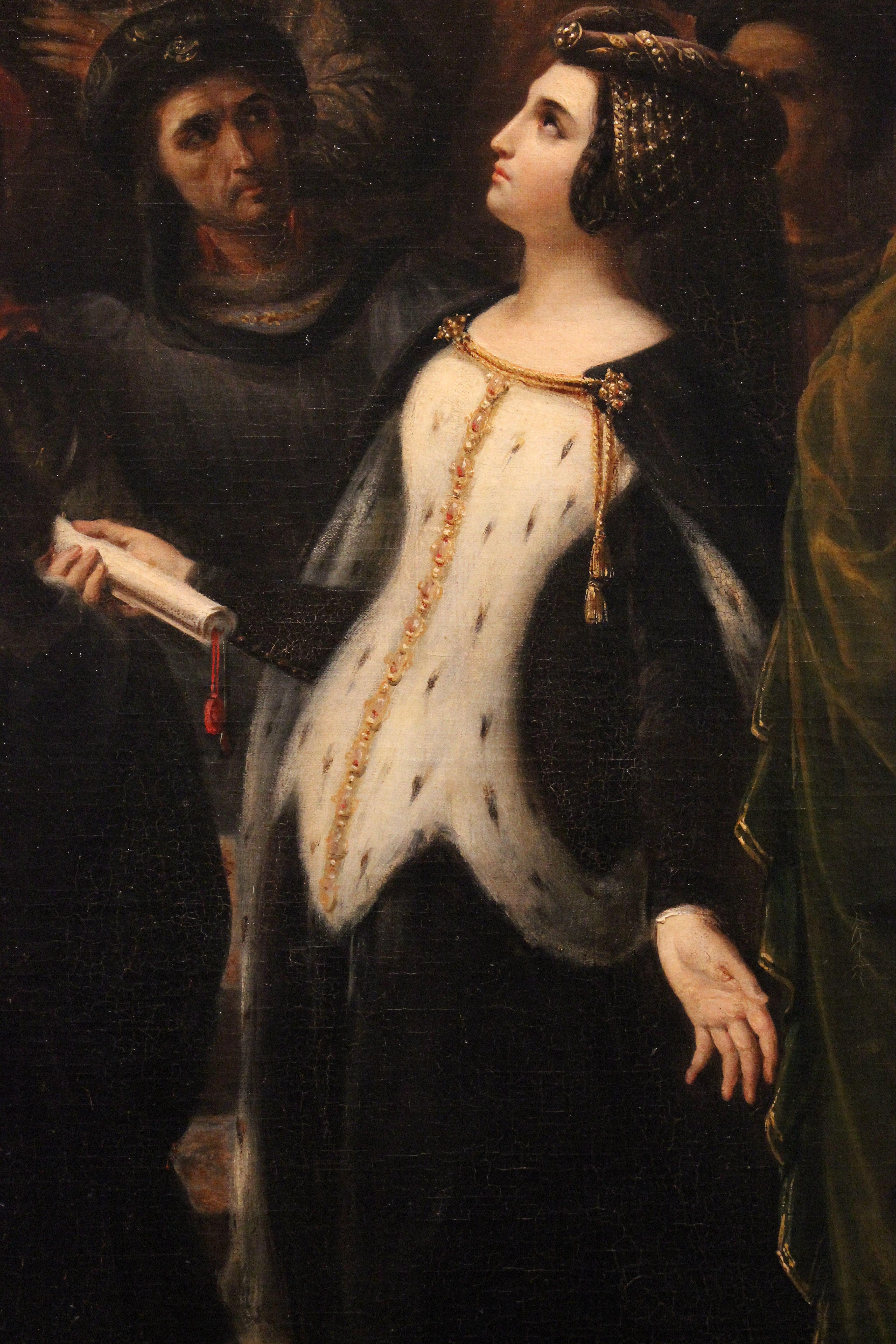 file valentine de milan implore la justice du roi charles vi pour l assassinat du duc d orleans alexandre colin mba lyon 2014 detail 8 jpg wikimedia commons
