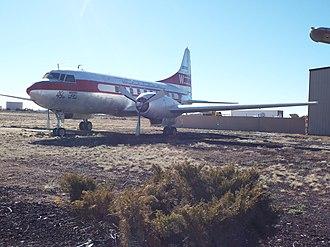 Valle, Arizona - Image: Valle Museum Planes of Fame Air Museum 1957 Convair 240