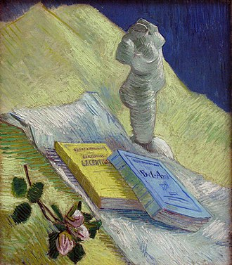 Bel Ami - Still life with plaster statuette, a rose and two novels by Vincent van Gogh (Kröller-Müller Museum)
