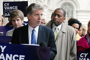 Cyrus Vance Jr. - Vance campaign in May 2009