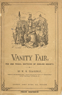 Picture of the front cover of Vanity Fair from about the 1850s