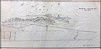 Vas Govce z rudarskimi deli leta 1874.jpg