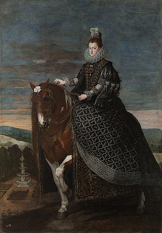 Equestrian Portrait of Margarita of Austria - Image: Velazquez margarita