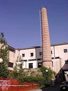 Ciminiera nella precedente sede dello stabilimento Buitoni di Sansepolcro.