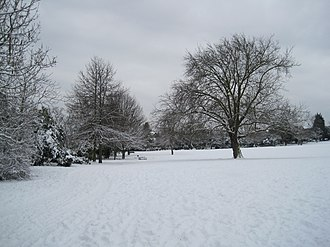 Victoria Park, Barnet - Image: Victoria Park in snow