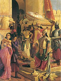 Victory of Meghanada', Painting by Raja Ravi Varma