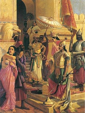 Indrajit - Victory Of Meghanada (Painting By Raja Ravi Varma)