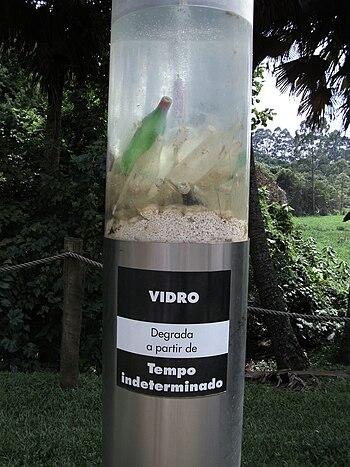 Português: Vidro e o meio ambiente