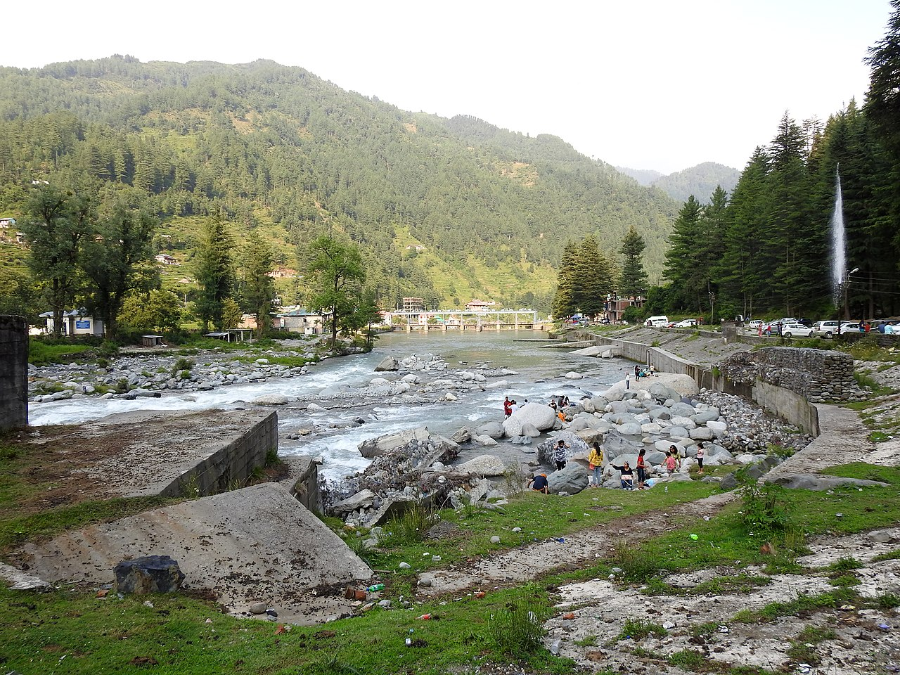 View of the riverside, Barot