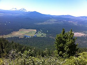 Black Butte Ranch, Oregon - A view of the ranch from atop Black Butte
