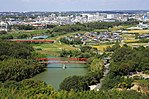 View of Yahagi River from Nomiyama Viewing Platform, Toyota 2013.jpg