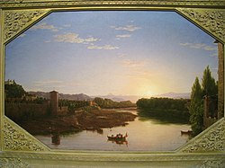 View on the Arno, near Florence, 1837, by Thomas Cole (1801-1848) - Worcester Art Museum - IMG 7671.JPG