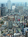 View on umeda area from umeda sky building osaka japan.jpg