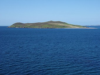 Gruinard Island, which Kelly assisted with decontaminating from weaponised anthrax View towards Gruinard Island - geograph.org.uk - 836894.jpg