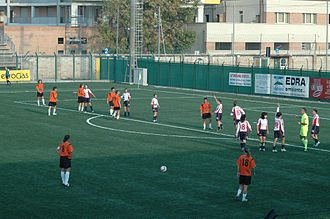 A.S.D. Torres Calcio Femminile - Sporting an orange change strip in October 2006