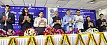 Vijay Goel releasing a CD, at the National Sports Day function, at Major Dhyan Chand National Stadium, in New Delhi.jpg