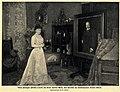 Vilma Parlaghi (Fürstin Lwoff) mit ihrem neuesten Werk, ein Porträt des Reichskanzlers Bernhard von Bülow, 1902.jpg