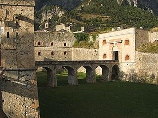 Forte Albertino castle and museum in Turin, Italy