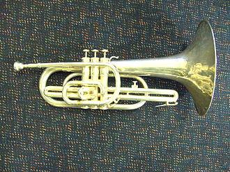 Mellophone - A Vincent Bach Mercedes F Marching Mellophone