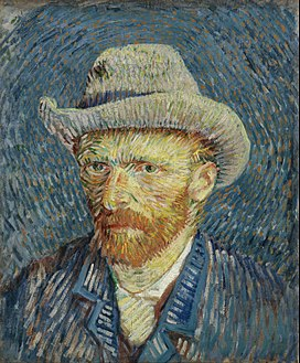Self-Portrait with Grey Felt Hat, Winter 1887–88. Van Gogh Museum, Amsterdam