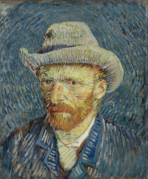File:Vincent van Gogh - Self-portrait with grey felt hat - Google Art Project.jpg