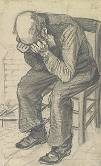 Worn Out, pencil on watercolour paper, 1882. Van Gogh Museum, Amsterdam [92]