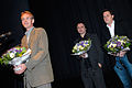 Vinnarna av Nordiska radets filmpris 2007 Peter Schonau Fog regissor, Bo hr. Hansen manusforfattare och Thomas Stenderup producent och tva av filmens skadespelare (2).jpg