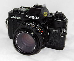 Vintage Minolta X-700 35mm SLR Film Camera, Made In Japan, Introduction Year - 1981 (20053052159).jpg