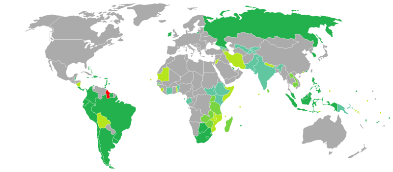 Visa requirements for Guyanese citizens - Wikipedia