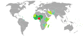 Nigerian passport - Countries and territories with visa-free or visa on arrival entry for holders of regular Nigerian passports