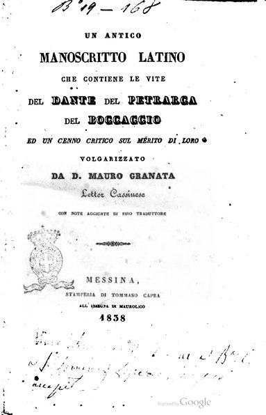 File:Vita di Dante, Petrarca e Boccaccio.djvu