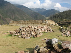 The archaeologicla site of Vitcos, Vilcabamba District