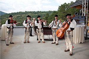 Terchová - Image: Volk musicians in Terchová