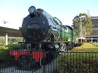 Western Australian Government Railways - Preserved S542 at the Public Transport Centre in April 2006
