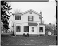 WEST ELEVATION - Jansonist Colony, Jacob Jacobson House, Bishop Hill Street, Bishop Hill, Henry County, IL HABS ILL,37-BISH,15-4.tif