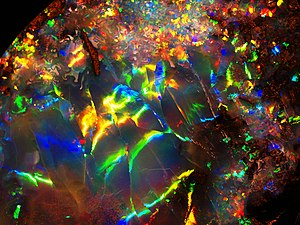 Opals can express every color in the visible s...
