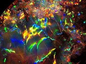 Jundah, Queensland - Fiery Opal from Opalville Mine, Jundah field