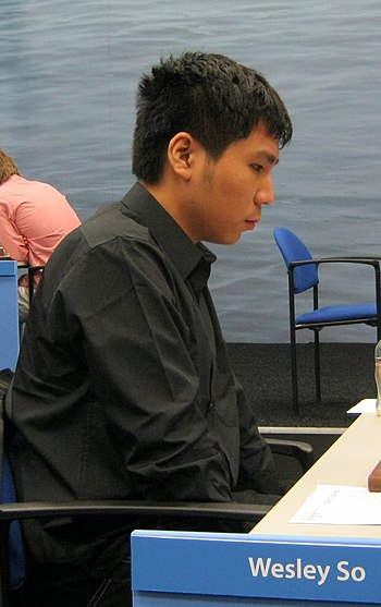English: Wesley So, chess grandmaster from the...