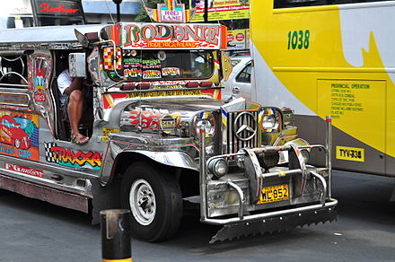 Jeepney is one of the most popular modes of transportation in Manila WTMP Pangkat E-14-3.JPG
